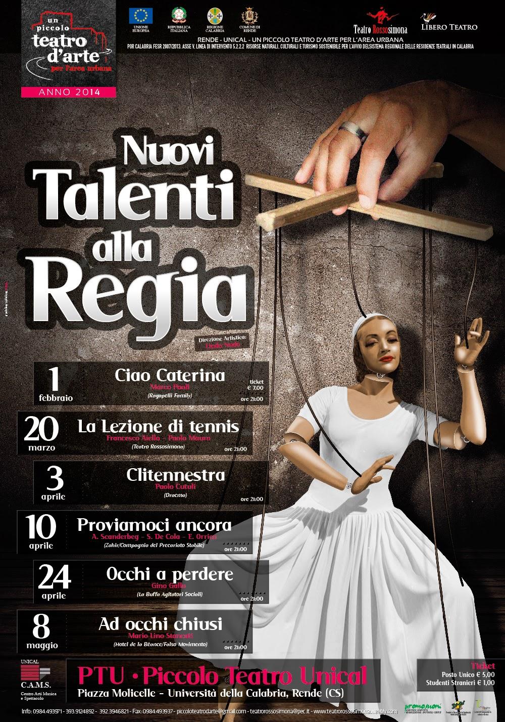 manifesti e brochure, nuovi talenti alla regia